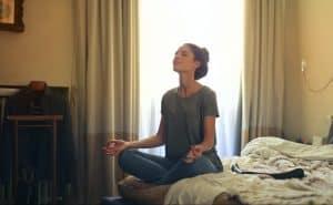 a Girl On Meditation